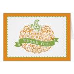 Little Pumpkin Thank You Note Note Card
