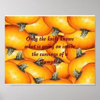 Little Pumpkins Carving Poster