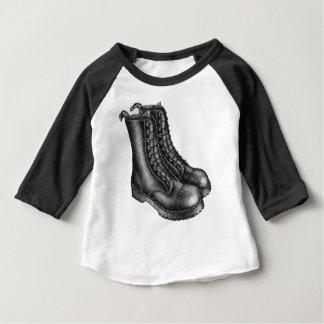 Little punk black boots baby tee