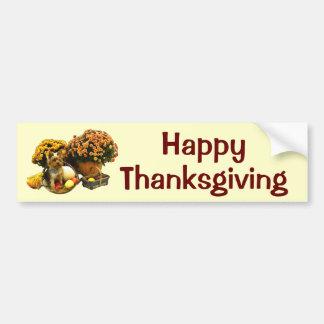 Little Pup's Thanksgiving Bumper Sticker