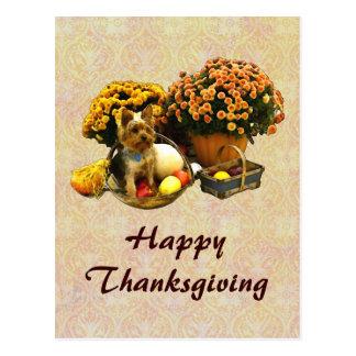 Little Pup's Thanksgiving postcard