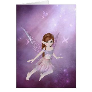 Little Purple Fairy 1 - Fantasy Greeting Card