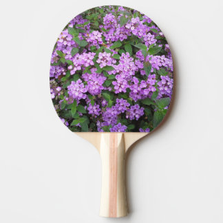 Little Purple Flowers Ping-Pong Paddle