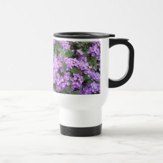Little Purple Flowers Stainless Steel Travel Mug