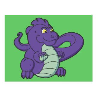 Little Purple Longtailed Dragon Post Card