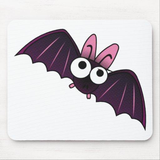LITTLE PURPLE & PINK BIG-EYED BAT MOUSE PADS