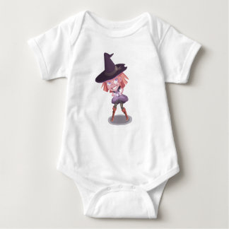 Little Purple Witch Baby Bodysuit