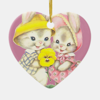 Little rabbits christmas ornament