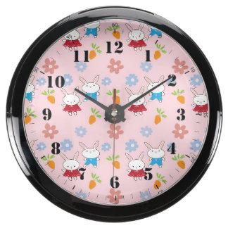 Little Rabbits patterns Aquavista Clock