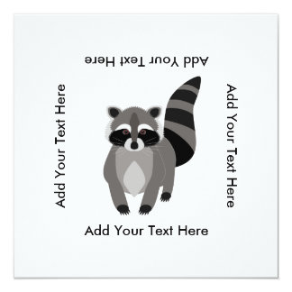 Little Raccoon Rascal Personalized 13 Cm X 13 Cm Square Invitation Card
