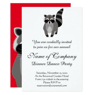 Little Raccoon Rascal Personalized 13 Cm X 18 Cm Invitation Card