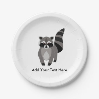 Little Raccoon Rascal Personalized Paper Plate