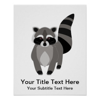 Little Raccoon Rascal Personalized Poster