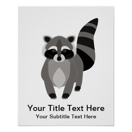 Little Racoon Rascal Personalised Poster