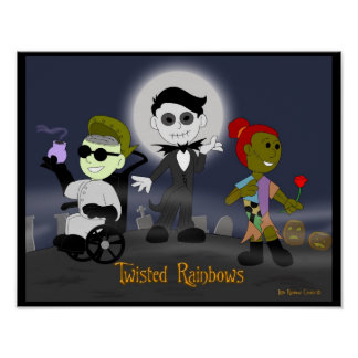Little Rainbow Comics: Twisted Rainbows Poster