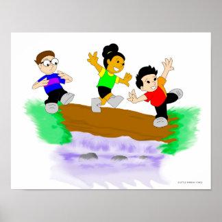 Little Rainbow Comics: Walking Over Water Posters