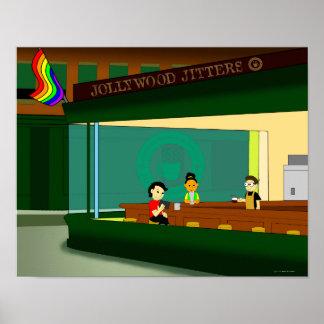 Little Rainbow Diner Poster