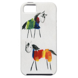 Little Rainbow Ponies Tough iPhone 5 Case