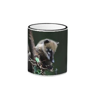 Little rascals coati - lemur ringer coffee mug