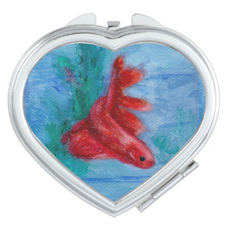 Red betta fish painting gifts t shirts art posters for Betta fish mirror