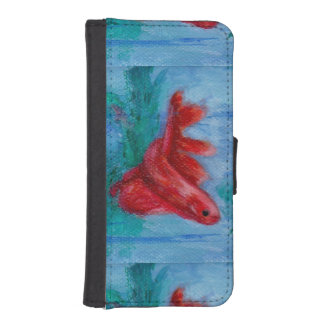 Little Red Betta Fish iPhone SE/5/5s Wallet Case