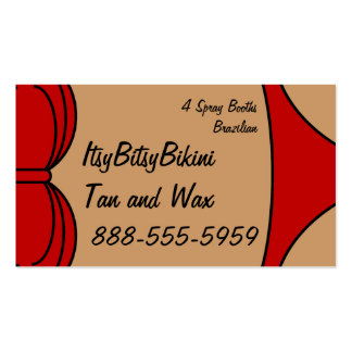Little Red Bikini Pack Of Standard Business Cards