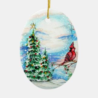Little Red Birdie Ornament