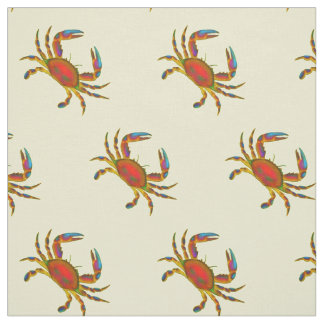 Little Red Chesapeake Crabs Fabric
