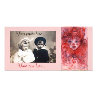 LITTLE RED CLOWN PHOTO GREETING CARD
