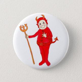 'Little Red Devil' Button or Badge