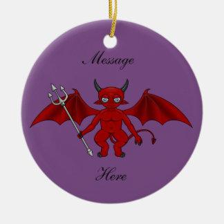 Little Red Devil Thunder_Cove Christmas Ornament