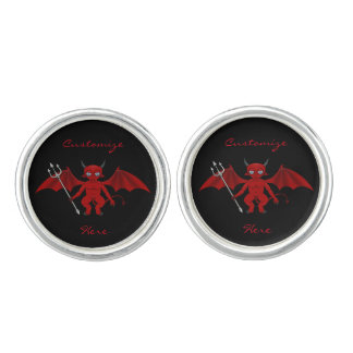 Little Red Devil Thunder_Cove Cuff Links