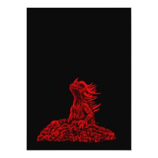 Little red Dragon 14 Cm X 19 Cm Invitation Card