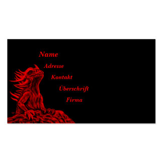 Little red Dragon Double-Sided Standard Business Cards (Pack Of 100)