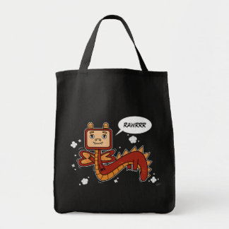 Little Red Dragon - Grocery Tote Tote Bag