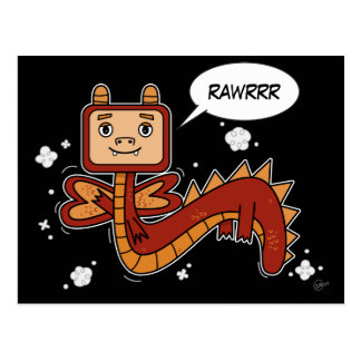 Little Red Dragon - PostCard