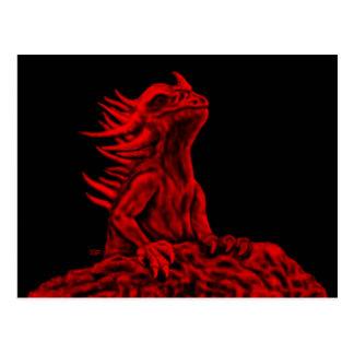 Little red Dragon Postcard