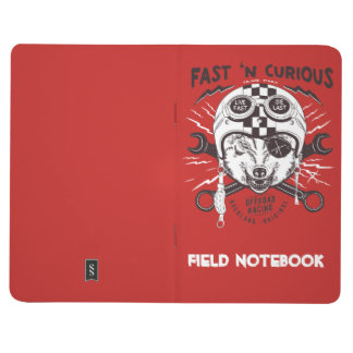 Little Red Fast n' Curious Racing Fox Notebook
