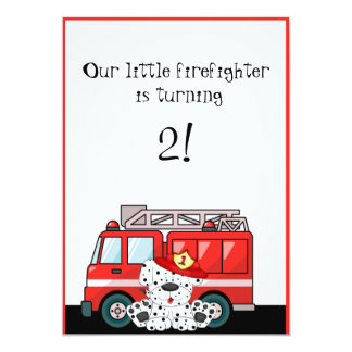 Little Red Fire Truck, Dalmatian Birthday Cards