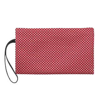 Little Red Floral Bag Wristlet Clutches