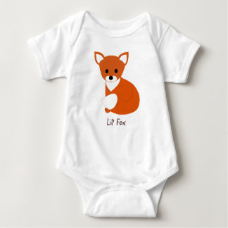 Little Red Fox Baby Bodysuit