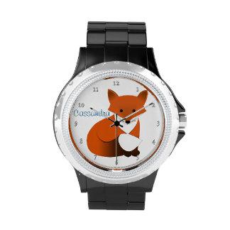 Little Red Fox Personalized Wrist Watch