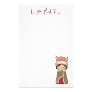 Little Red Fox Personalized Stationery