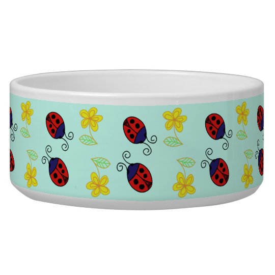 Little red ladybird pets bowl