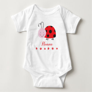 Little Red Ladybug Personalized Infant Creeper