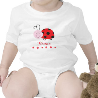 Little Red Ladybug Personalized Infant Creeper