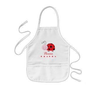 Little Red Ladybug Personalized Kids Apron