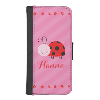 Little Red Ladybug Personalized Wallet case
