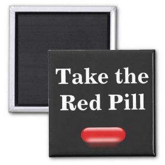 Little Red Pill Fridge Magnet