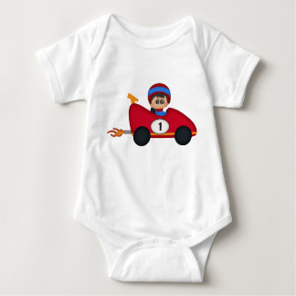 Little Red Race Car Driver and Pit Crew Kids Baby Bodysuit